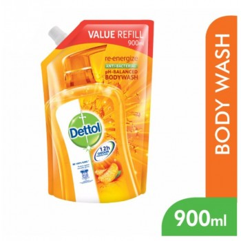 Dettol BodyWash Re-energize 900ml Value Refill Pouch