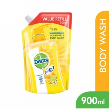 Dettol BodyWash Fresh 900ml Value Refill Pouch