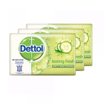 Dettol Body Soap Lasting Fresh 65g x 3 Pack