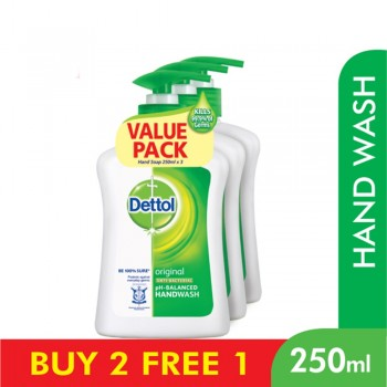 Dettol Antibacterial Original Liquid Hand Wash 250ml x 3 Value Pack
