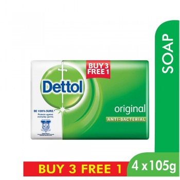 Dettol Body Soap Original 105g 3+1