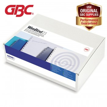 GBC WireBind 21 Loops - 12mm, A4, 109 Sheets, White