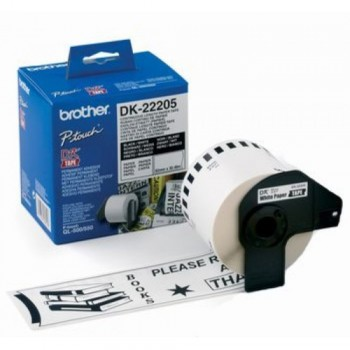 Brother DK22205 Continuous Length Paper Tape (62mm x 30.48m)