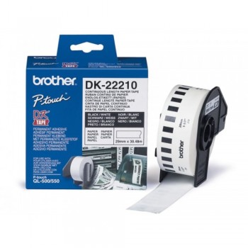 Brother DK22210 Continuous Length Paper Tape (29mm x 30.48m)