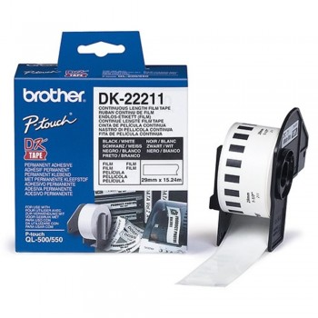 Brother DK22211 Continuous Length Paper Tape (29mm x 15.24m)