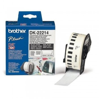 Brother DK22214 Continuous Length Paper Tape (12mm x 30.48m)