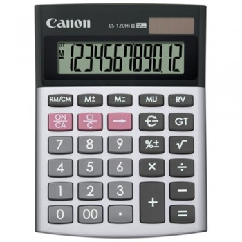Canon Calculator LS-120Hi III - 12-Digit Desktop Calculator, Mark Up & Reverse Function - Black