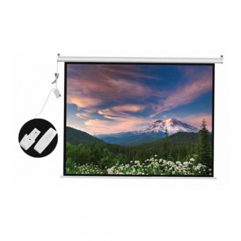 DP Screen Motorised Projector Screen Electric Projection Screen - Matte White Surface - DP-ELC-06 - Screen Ratio 6' x 6' - Screen Size 1800 x 1800mm