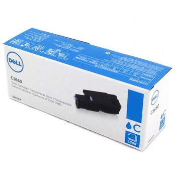 Dell C1660 Cyan Toner Cartridge DWGCP (Item no: DELL C1660W CY)