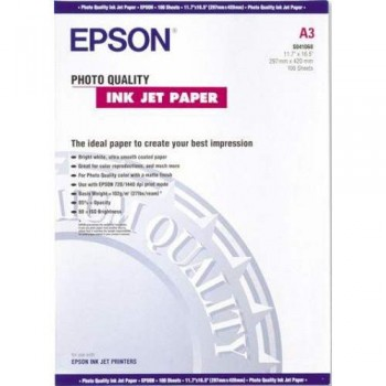 Epson S041068 Photo Quality Inkjet Paper - A3 - 100sheets - 102g