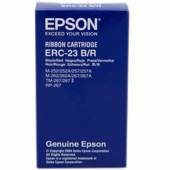 Epson ERC 23 Ribbon - Blk/Red (Item No: EPS ERC 23 B/R)