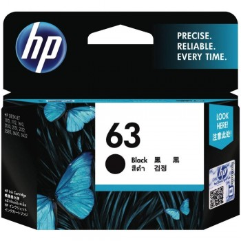 HP 63 Black Ink Cartridge (F6U62AA)