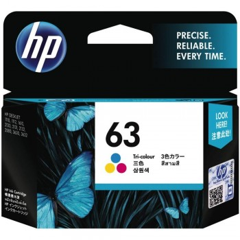 HP 63 Tri-color Ink Cartridge (F6U61AA)