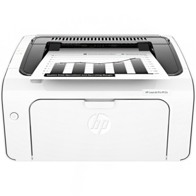 HP LaserJet Pro M12w Single Function Professional Quality And Reliability Mono Wireless Printer (T0L46A)