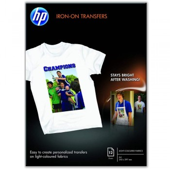 HP Iron-on T-Shirt Transfers (A4) 10 sheets