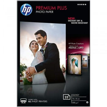 HP Premium Plus Glossy Photo Paper - 25sht/10 x 15cm (CR677A)