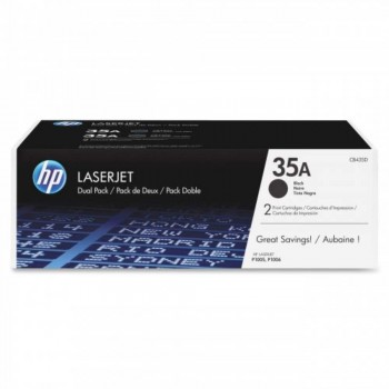 HP 35AD Black Dual Pack LaserJet Toner Cartridges (CB435AD)