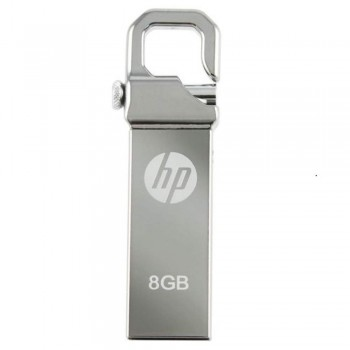 HP v250w Stainless Steel USB Flash Drive - 8GB
