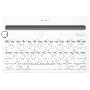 Logitech Bluetooth Multi-Device Keyboard K480 - White