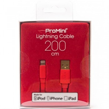 Magic Pro - ProMini Lightning Cable 200cm - Red