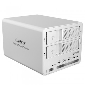 "Orico 9528RU3 2 Bay 3.5"" USB3.0 SATA HDD External Enclosure with RAID - Silver (Item No: D15-18)"