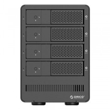 "Orico 9548RU3 4 Bay 3.5"" USB3.0 SATA HDD External Enclosure with RAID - Black (Item No: D15-19)"