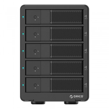 "Orico 9558U3 5 Bay 3.5"" USB3.0 SATA HDD External Enclosure - Black (Item No: D15-24)"