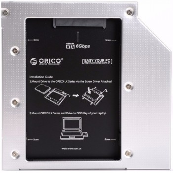 Orico L95SS Laptop Hard Drive Mount for 9.5mm Optical Drive Bay (Item No: D15-76)