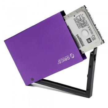 "Orico 2595US3 2.5"" USB3.0 SATA HDD Enclosure with protection case - Purple (Item No: D15-08)"