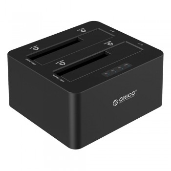 Orico 6629US3-C Dual Bay Super Speed USB3.0 HDD Docking Station (Black) (Item No: D15-14)
