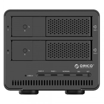 "Orico 9528RU3 2 Bay 3.5"" USB3.0 SATA HDD External Enclosure with RAID - Black (Item No: D15-17)"