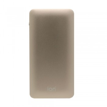 Ion PQ7 Qualcomm Quick Charge 3.0 +Type C 6A 30W Dual Output & Input 10000mAh 10mm Ultra Slim, Gold