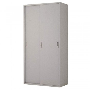 Full-Height Steel Cupboard L34B - Sliding Door with 3 Shelves