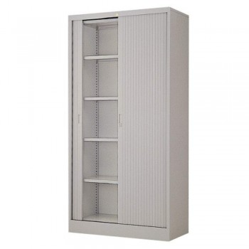 Full-Height Steel Cupboard L39A - Roller Shutter Door with 5 Shelves