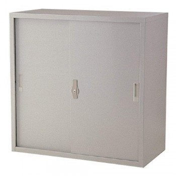 Half-Height Steel Cupboard L31B - Sliding Door with 1 Shelve