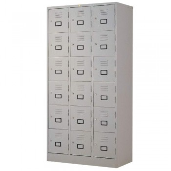 Steel Locker L5518B - 18-Compartment with Keylock