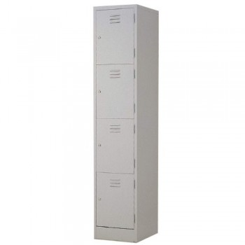 Steel Locker L554B - 4-Compartment with Keylock