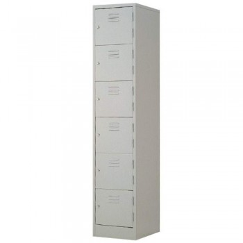 Steel Locker L556B - 6-Compartment with Keylock