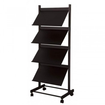 Newspaper & Magazine Rack LT379B - 540W x 390D x 1370H (Item No: G05-80)