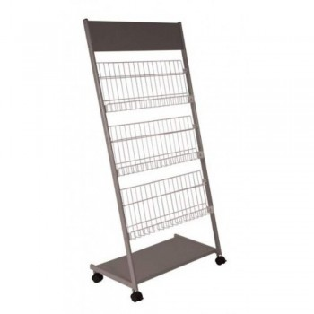 Newspaper & Magazine Rack MR201 - 640W x 390D x 1500H (Item No: G05-46)