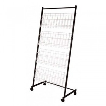 Newspaper & Magazine Rack MR202 - 690W x 400D x 1440H (Item No: G05-47) A8R1B23