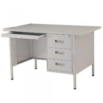 Steel Desk L121P - 4ft Single Pedestal with Laminated Top
