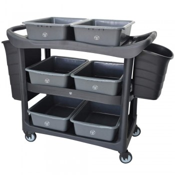 3 Tier Utilies Cart c/w Buckets 3UC-606