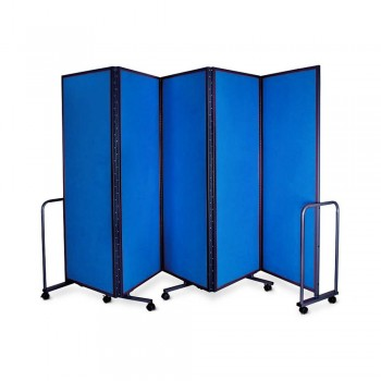 WP-LB5-V03 LAMBO PANELS Blue - Panel Size :61cm x 180cm x 5Panels | Folded size : 68 x 194x 54CM | Open Length : 310cm (Item No : G05-156)