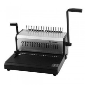 BOX Manual Comb BX-2501 Binding Machine - Binds 400 Sheets, Punches 25