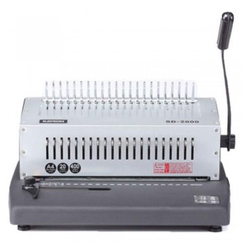 Manual Comb BX-2000 Binding Machine - Binds 400 Sheets, Punches 20  A7R1B43