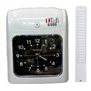 Timi 6500A Time Recorder (Free) 20's Card Rack Time Card
