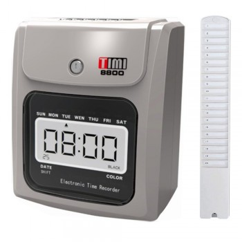 Timi 8800N Time Recorder (Free) 20's Card Rack Time Card
