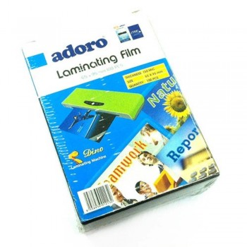Adoro Laminating Film Pouch ID Size — 65mm x 95mm, 100pcs, 150mic