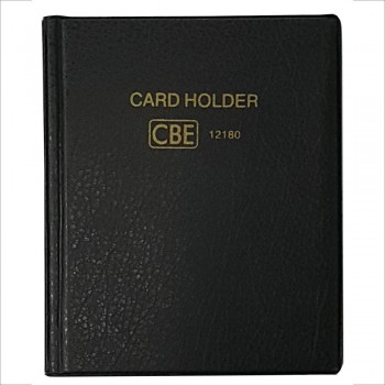 CBE 12132 PVC Name Card Holder - Black (Item No: B10-144BK) A1R3B121